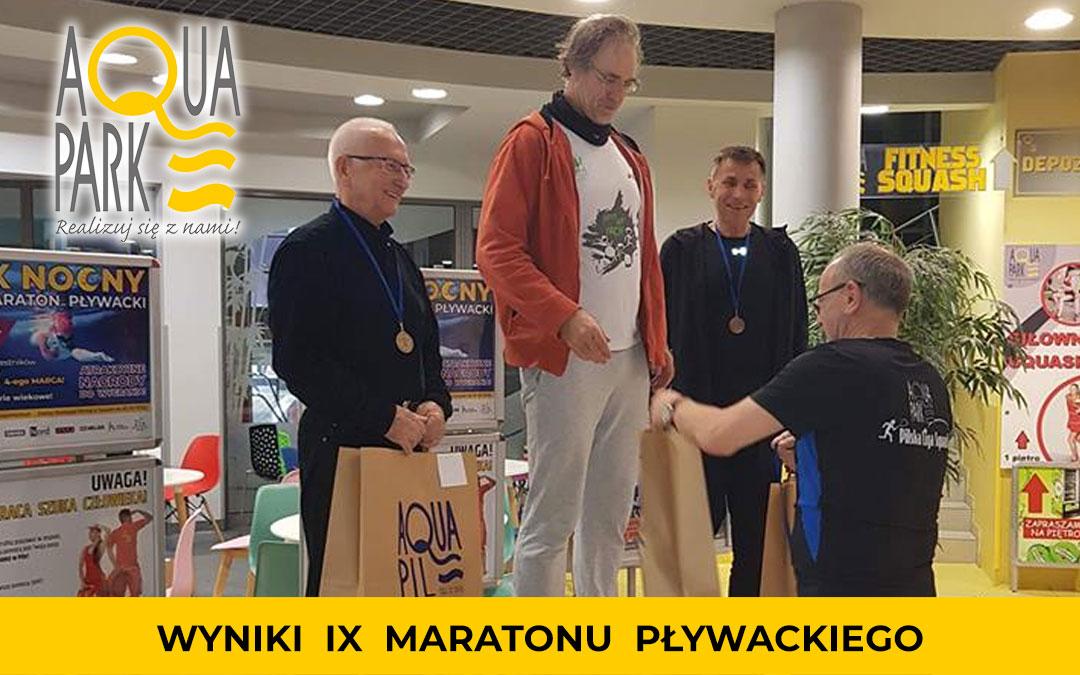 Wyniki IX Maratonu Pływackiego